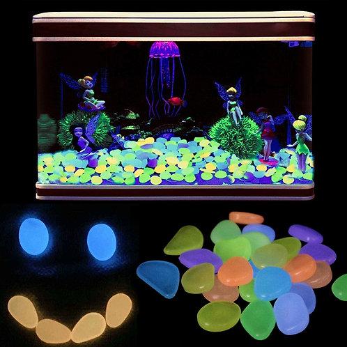 Aquarium Ornaments Stones Glow in the Dark Luminous  for Garden  Fish Tank