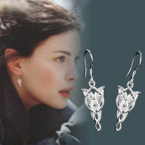 The Lord Of The Rings Arwen Evenstar Silver Earrings