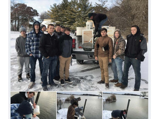 Burlington H.S. Fishing Team Helps Stock Eagle Lake
