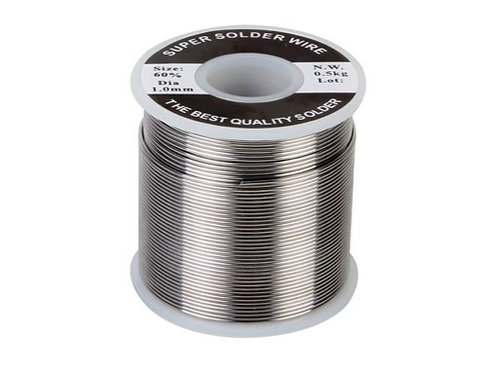 Soudure • 500g Ø 0,8mm avec plomb & âme décapante
