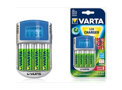 VARTA • Chargeur de piles LCD + 4 Accus AA 2400mA
