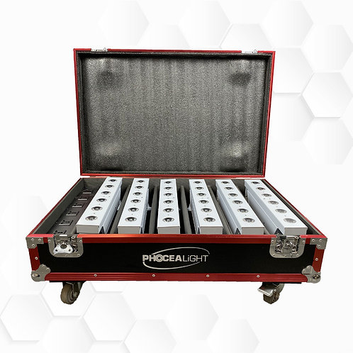 Flight case Barre Batterie 6x15W