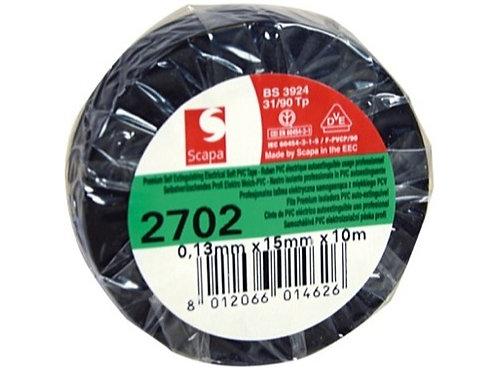 Adhésif PVC noir 15mm x 10m 103003 • SCAPA