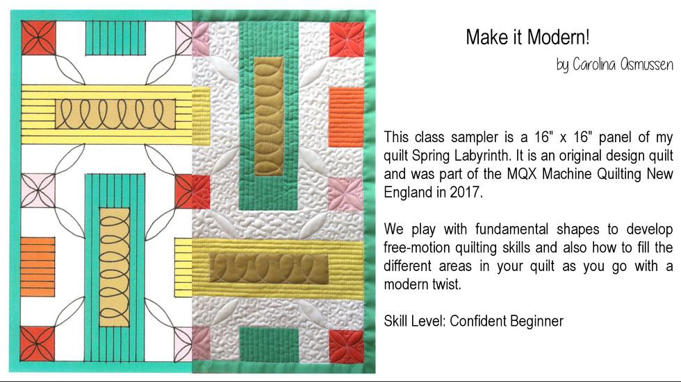 Make it Modern!