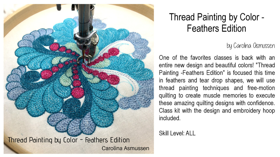 Thread Painting by Color - Feathers Edition