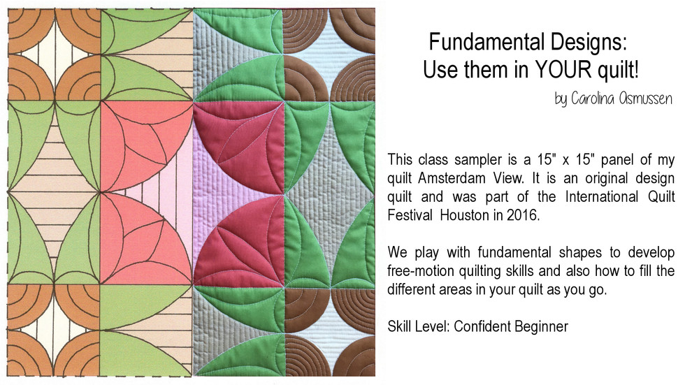 Fundamental Designs: Use them in YOUR quilt!