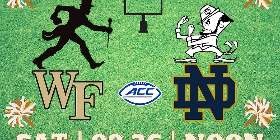 Wake Forest Football versus Notre Dame Watch Party