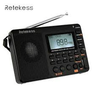 Connect your speaker - Retekess Rechargeable Radio w/Audio Output & Audio Cable
