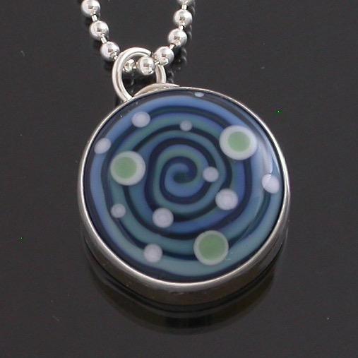 Swirl & Dot Pendant