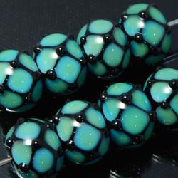 Intricate lampwork glass beads
