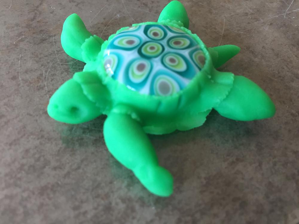 sea turtle pendant prototype