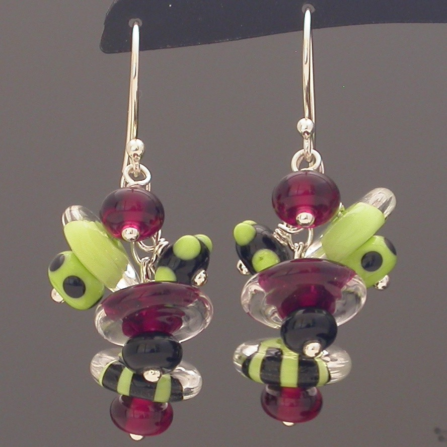 Cluster Earrings in Watermelon