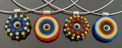 Rainbow dots and circle pendants