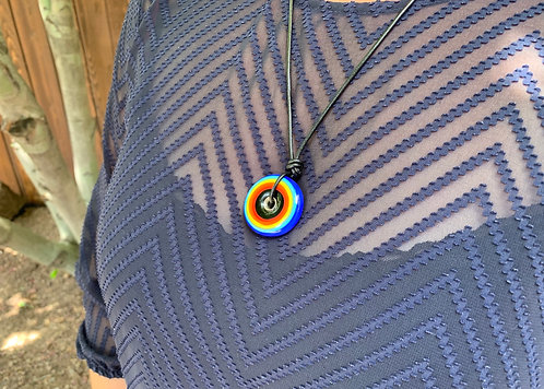 Necklace | Rainbow Circle | Blue | Limited Edition
