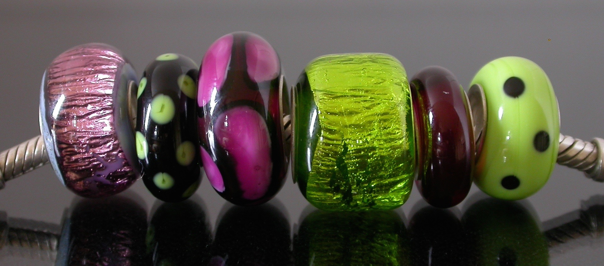 Large hole beads in various designs.