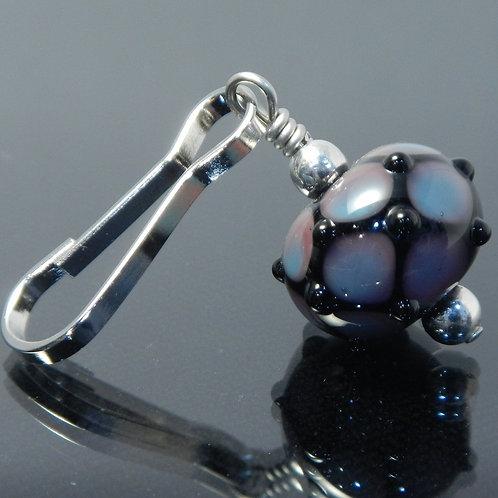 zipper pull net purple blue black side view