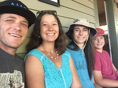 glass bead and jewelry artist Larissa Spafford and her family in Bend, Oregon