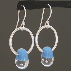 Water Droplet Circle Earrings
