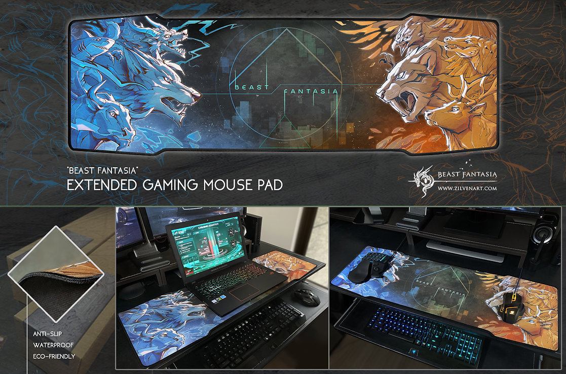 beast fantasia gaming mousepad