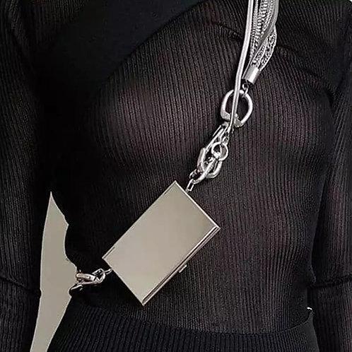 Metallic Ribbon card holder