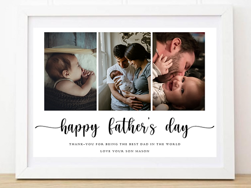 Father's Day 3 Photo Frame