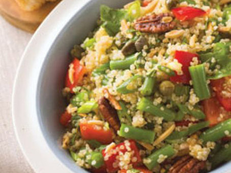 A fresh and nutritious quinoa salad