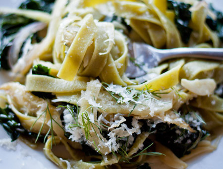 Pasta with Fennel, Kale, and Lemon
