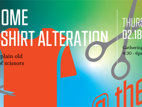 Webinar from Hive: Made @ Home: No-Sew T-Shirt Alterations