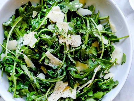 Arugula Salad with Avocado and Shaved Parmesan