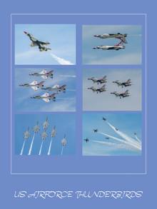 24 x 16 (6 images) US Airforce Thunderbi