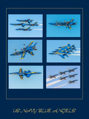 24 x 16 (6 images) US Navy Blue Angels-2