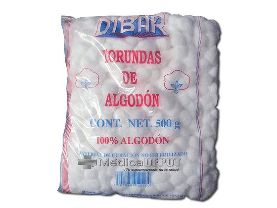 Torundas de algodon