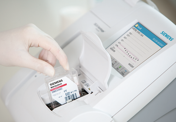 Equipo para hemoglobina glicosilada DCA Vantage