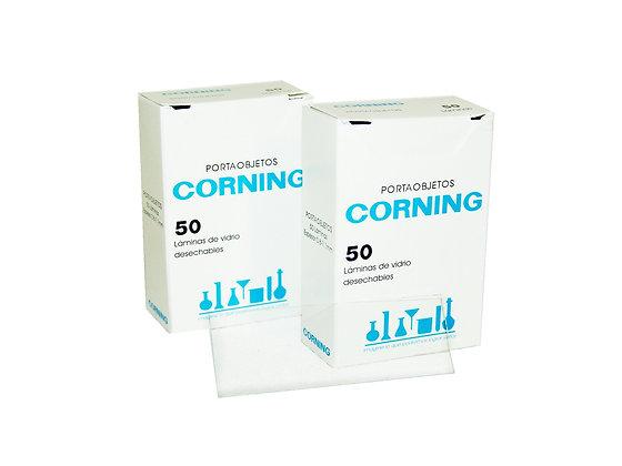 Portaobjetos Corning