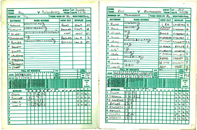 Inaugral Match Book