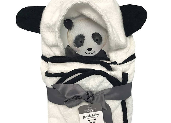Panda Baby Hooded Bath Towel Set