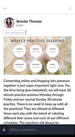 Weekly Practice Sessions