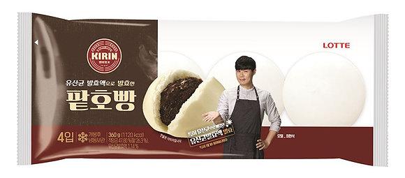 Lotte Kirin Steamed Red bean bun (4 pieces) 360g