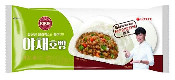 Lotte Kirin Steamed Vegetable bun 360g (4 pieces)