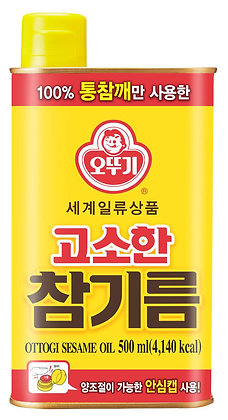 [KJ143] 오뚜기 고소한 참기름(캔) 500ml