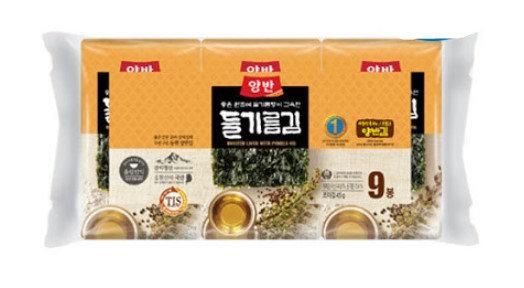 Dongwon Yangban perilla oil seasoned dry seaweed  9pks