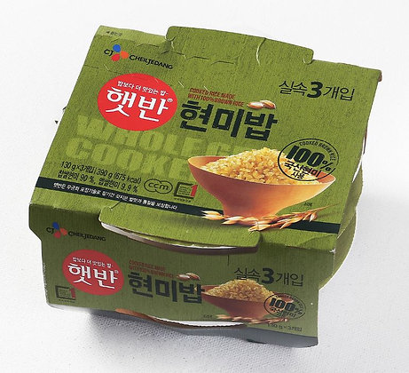 Cj Hetbahn 100% Brown Rice 130g (3pk)
