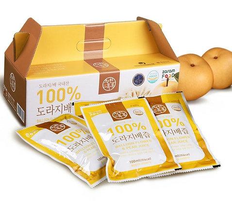 Zaram Food 100% Balloon Flower & Pear Juice 100ml X 30