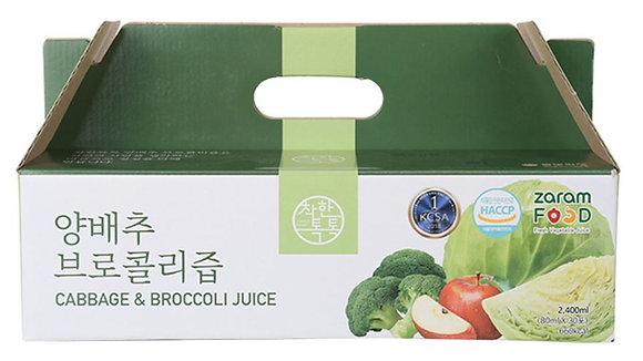 [KD111] 자람푸드 착한톡톡 양배추 브로콜리즙 (80ml X 30포)