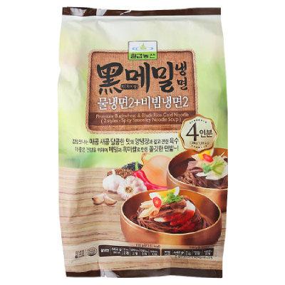 [KF246] 칠갑농산 흑메밀냉면 (물냉면2+비빔냉면2)