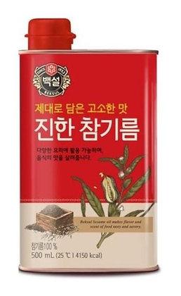[KJ144] 백설 진한 참기름(캔) 500ml