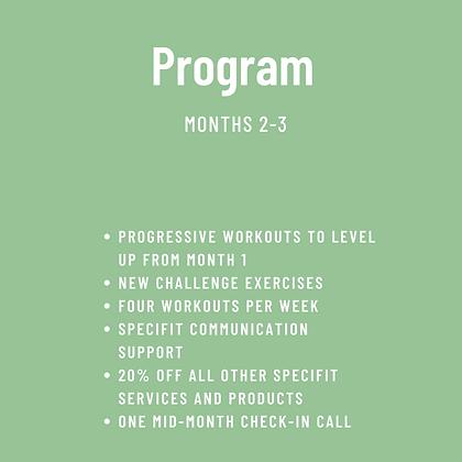 SpeciFit Program Months 2 & 3