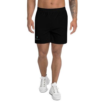 SpeciFit Black Men's Athletic Long Shorts