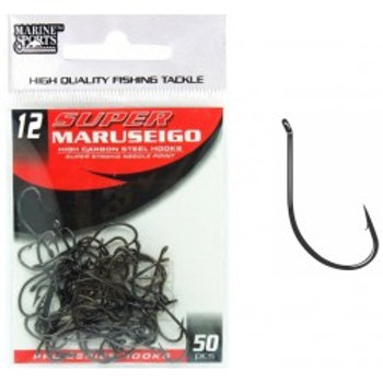 ANZOL MARINE SPORTS SUPER MARUSEIGO BLACK NICKEL 12 com 50pcs