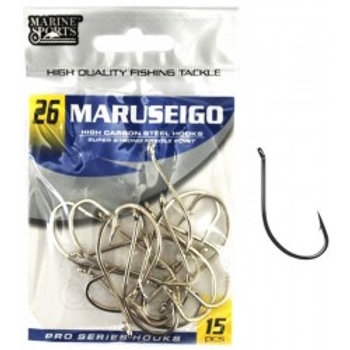 ANZOL MARINE SPORTS MARUSEIGO NICKEL 26 com 15pcs